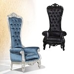 59141 Raven Black Finish Accent Chair