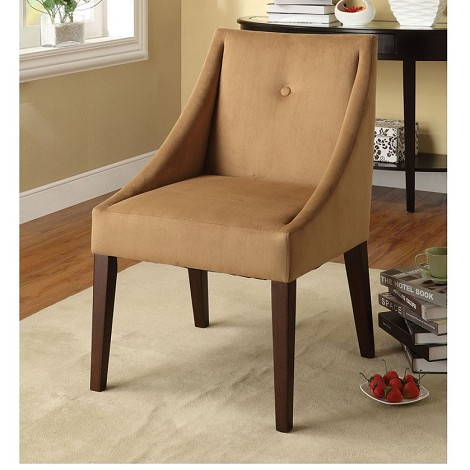Lisandr Brown Fabric Accent Chair