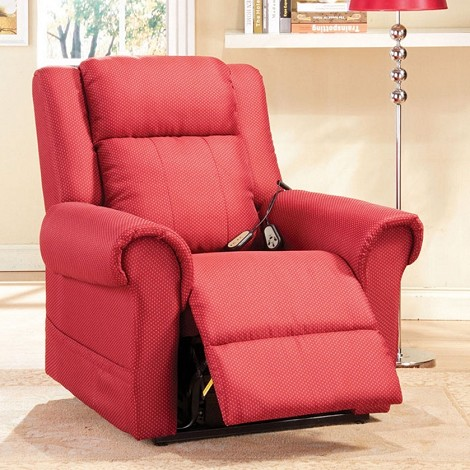 Dionna Burgundy Plush Electric Lift Recliner