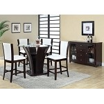 Malik White Bycast / Espresso Finish Counter Height Dining Set