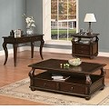 Amado Espresso Finish Coffee/End Table Set