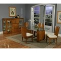 Embarcadero Golden Maple Dining Table With Glass Top