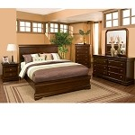 Chesapeake Queen Panel Bed In Cappuccino