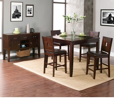 Lakeport counter height table with - Broken glass dining table ...