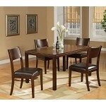 Medford Fixed Top Cappuccino Dining Table