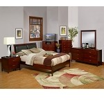 Newport Queen Platform Bed With Faux Leather Headboard