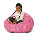 Junior Print Pink Flower Bean Bag 30-1011-824