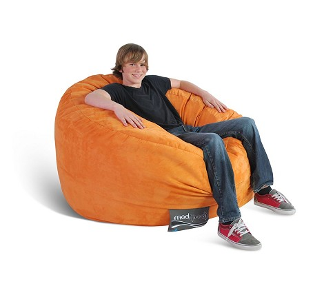 Mod Pod Single 4' Soft Suede Pumpkin 32-7024-1010