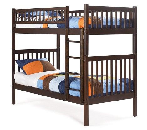 Arizona Bunk Bed Twin Over Twin in a Antique Walnut Finish
