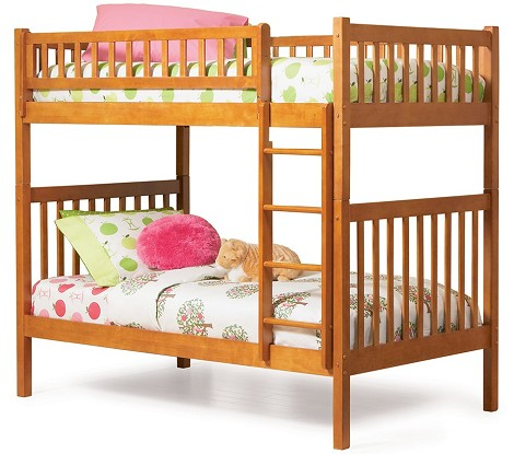 Arizona Bunk Bed Twin Over Twin in a Latte Finish