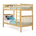 Arizona Bunk Bed Twin Over Twin in a Natural Maple Finish
