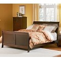Bordeaux Sleigh Bed in Antique Walnut Finish