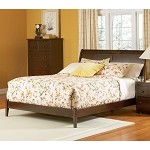Bordeaux Platform Bed with Open Footrail in Antique Walnut Finish