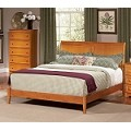Bordeaux Platform Bed with Open Footrail in Late Finish