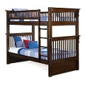 Colorado Bunk Bed Twin Over Twin in a Antique Walnut Finish