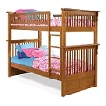 Colorado Bunk Bed Twin Over Twin in a Latte Finish