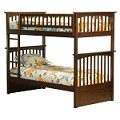 Columbia Bunk Bed Twin Over Twin in a Antique Walnut Finish