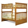 Columbia Bunk Bed Full Over Full in Latte Finish