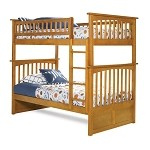 Columbia Bunk Bed Twin Over Twin in a Latte Finish