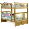 Columbia Bunk Bed Full Over Full in Natural Maple Finish