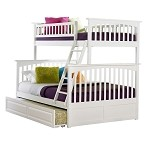 Columbia Bunk Bed Twin Over Full in White Finish