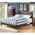 Manhattan Platform Bed with Open Footrail in Antique Walnut