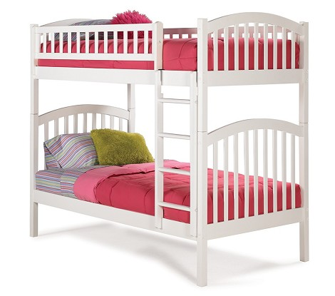 Richmond Bunk Bed Twin Over Twin in White Finish
