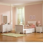 Atlantic Sleigh Bedroom Set White