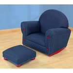 Denim Upholstered Rocker & Otto - DISC