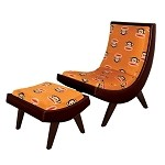 Paul Frank® Chair + Ottoman Orange