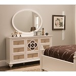 Paris Youth Dresser & Mirror Pearl