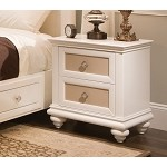 Paris Youth Nightstand & Top Mirror Pearl