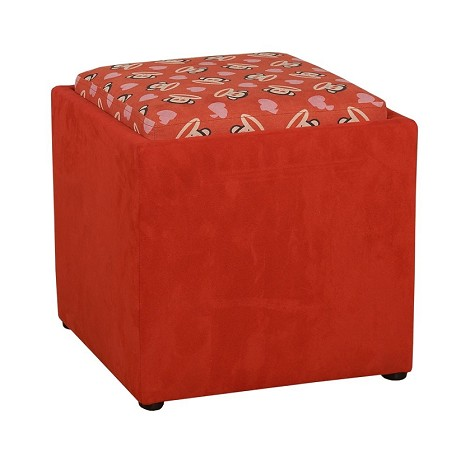 Paul Frank® Love Ottoman Red