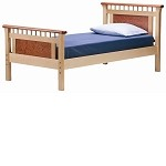 Bennington Twin Bed-Rosewood