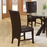 100972 Shoemaker Faux Leather Parson Side Chair (set of 2)