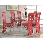 101681R Los Feliz Dining Set Red