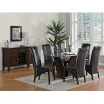 102240 Rodeo Glass Top Dining Set