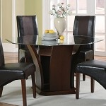 102241 Rodeo Octagonal Glass Top Dining Table