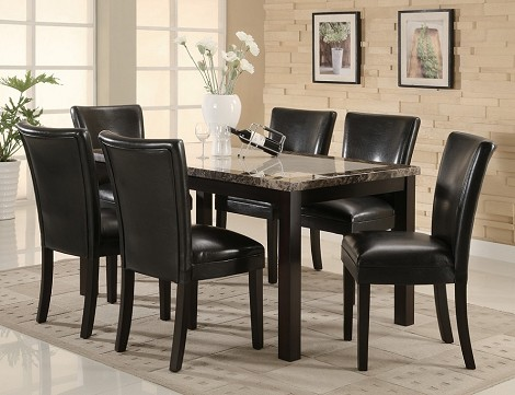 102260 Carter Dining Set Black