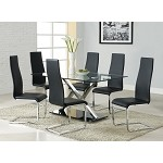 102320 Modern Dining Set Black