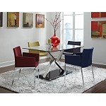 102320 5 Piece Glass Top Table & Chairs