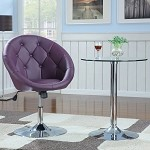 Coaster 102580 Round Swivel Chair, Purple