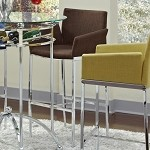 120726 Linen Fabric Bar Stool Coffee (set of 2)