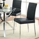120767 Dining Chair Black (set of 2)