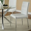 120767 Dining Chair White (set of 2)