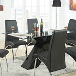 120811 Ophelia Contemporary Dining Table Black