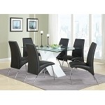 120821 Ophelia Contemporary Dining Set White