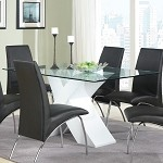 120821 Ophelia Contemporary Dining Table White