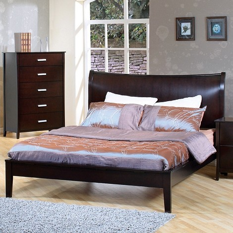 200300q Stuart Contemporary Platform Queen Bed