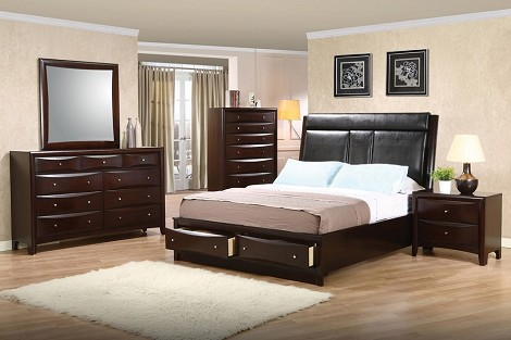 200419 Phoenix Contemporary Storage Bedroom Set